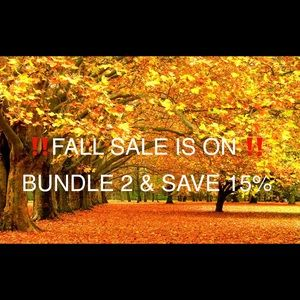 ‼️🍁FALL SALE IS ON🍁‼️